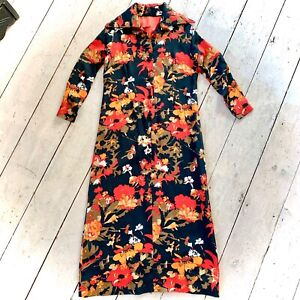 Vintage 1960's Hand Tailored Maxi Mod Dress Size 12