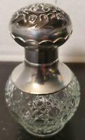 Vintage Avon Glass with Silvertone Top Perfume Fragrance Decanter Empty