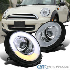 For 07-12 Mini Cooper Clear LED Signal & Halo Projector Headlights Left+Right