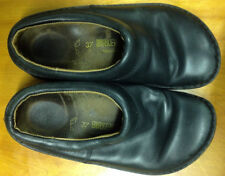 Birkenstock Shoes  Footprints Clogs Mules Black Leather Size 37 US L6