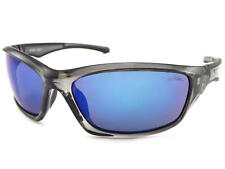 5ffc17d6c70 STONE men s Wrap Sunglasses Crystal Grey with Blue Mirror CAT.3 Lens ST520