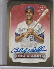 2012 TOPPS FIVE STAR #FSABW BILLY WILLIAMS AUTOGRAPH CHICAGO CUBS HOF 12/25 4158