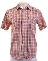 LEVI'S Mens Shirt Short Sleeve Large Multicoloured Check Cotton  X102