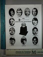 Rare Original VTG 1983 Distinctive Eyes Award Winners AOA.org Lucille Ball Photo