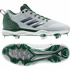 Adidas Power Alley 5 Men's Baseball Cleats B39191 - White with Green (NEW)