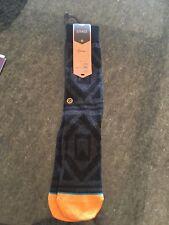 Stance Reserve Black Gray Socks Size Large