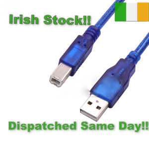 Printer cable scanner USB TYPE A to USB TYPE B  4 Sizes 1m, 1.5 m 3 m 5m Cable