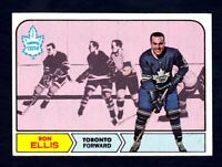 1968-69 Topps #126 Ron Ellis Toronto Maple Leafs NM near mint condition