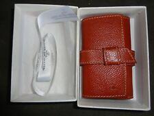 Nib Jaeger Lecoultre Keychain Key Ring Case Leather W/Box