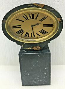 Antique French Art Deco Swivel Mnatel Clock