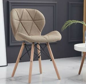 Modern chair for Living Room/Beige Color/Fabric Armless Chairs/ 2 PCs /Furniture