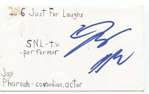 Jay Pharoah Signed 3x5 Index Card Autographed Signature Actor Comedian SNL