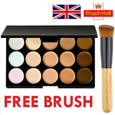 Pro 15 Colours Concealer Palette kit with Brush Face Makeup Contour Cream GIFT