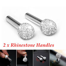 2x Rhinestone Car Door Interior Lock Knob Handle Peg Pin Decoration Accessories