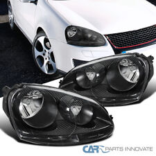 For VW 05-10 Golf Mk5 Jetta Rabbit Replacement Black Clear Headlights Head Lamps
