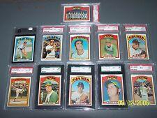 1972 Topps Baseball Card PSA 8 (7) PSA 9 (3) 2 OPC Graded High End Lot Total 11