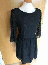 Ladies FRENCH CONNECTION Dress Size 12 Black Lace Skater Party Evening