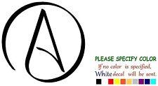 "ATHEIST International Symbol Adhesive Vinyl Decal Sticker Car Truck Window 6"""