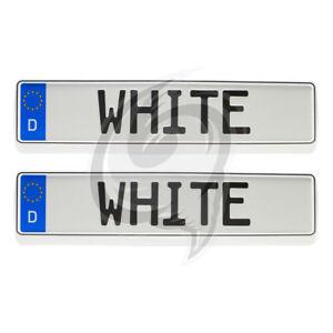2x Brilliant Weiß Kennzeichenhalter Tuning Opel Tigra+Speedster+Combo+Vivaro