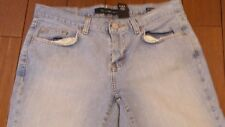 Women's CALVIN KLEIN Light Wash Low Rise Bootcut Blue Jeans - SZ 4