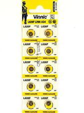 Vinnic AG4 L626F 1.5v  batteries   LR66 117 376 377  SG4   10x battery  0% Hg