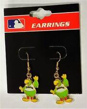 PIttsburgh Pirates Parrot Mascot Baseball MLB Charm Silver Dangle Earrings Set