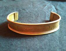 Om Namah Shivaya Handmade Brass Metal Bangle Open ends Cuff Gift Collectible