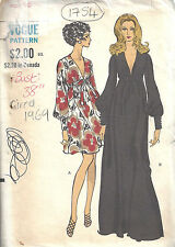 1969 Vintage Vogue Couture Motif Robe B36 (1781)