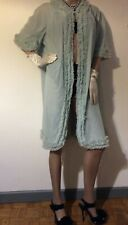 Vintage St Michael Silky Chiffon Nylon Lace NIGHT ROBE Size Medium Blue