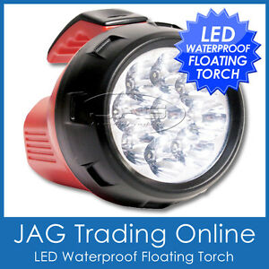 9-LED WATERPROOF COMPACT FLOATING TORCH/FLASHLIGHT- Boat/Camping Fishing Light