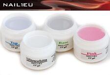 PROFILINE French Gel Set: UV Frenchgel Aufbaugel Haftgel Versiegelungsgel 4x7ml