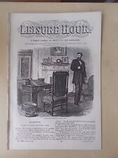 ANTIQUE VICTORIAN THE LEISURE HOUR MAGAZINE PAPER No 1002 MARCH 11th 1871
