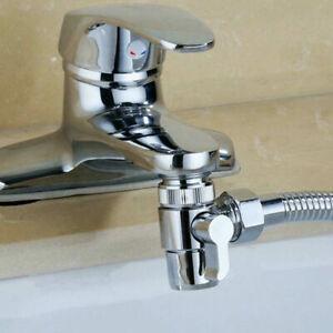 2-in-1 Brass Bidet Shower Head Diverter Valve Faucet Spout Taps T-Adapter U24