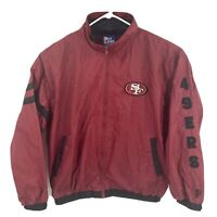 Vintage Mens PRO PLAYER SAN FRANCISCO 49ers Windbreaker Sz XL