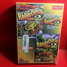 Roller Coaster Tycoon 2 Pack (PC, 2002) ((With Box)