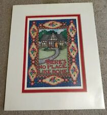 "New 1998 Mary Engelbreit Matted Picture/Print 8X10 ""There'S No Place Like Home"""