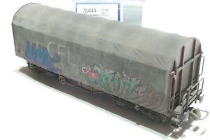 Roco HO CFL 4achsiger Schiebeplanenwagen gealtert Grafitti grau 76444 NEU OVP