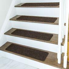 Non Slip Carpet Stair Treads + Double sided tape - Set of 13 Premium non skid