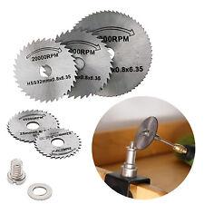 6Pcs/set Drill Dremel Accessories HSS Mini Circular Saw Blades Power Tools Wood