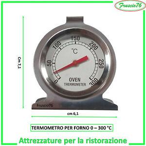 TERMOMETRO per Forno da Cucina 300° gradi Indicatore Temperatura in Acciaio Inox
