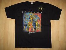 Santana 2002 Tee- Shaman #1 Carlos Santana Concert Tour Latin Rock T Shirt Large