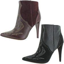BCBG Max Azria Women's Jazleen Leather Pointed Toe Studded Dress Heel Ankle