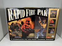 Rapid Fire Pak: Abuse, Crusader, Fade to Black - Rare Big Box PC Combo 1995/1996