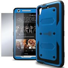 For HTC Desire 626 / 626S Case - Blue / Black Armor Phone Cover Screen Protector