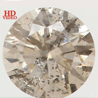 Natural Loose Diamond Brown Color Round I1 Clarity 3.50X2.10 MM 0.17 Ct L4398