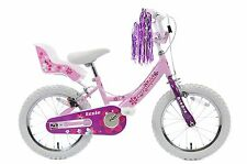"Izzie 16"" Wheel Girls Single Speed Pretty Pink Bike & Doll Seat, Streamers Age5+"