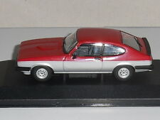 Vanguards VA10817 FORD CAPRI MK3 1.6 CALYPSO IN RED & SILVER LTD-1100.NEW