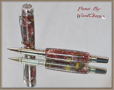Handmade Mini Pine Cone Writing Rollerball Or Fountain Pen Beautiful Artwork 580