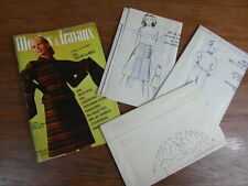 MODES & TRAVAUX + PATRONS POUPEES + ROBES BRODERIE No 861 (1972) Patterns Dolls
