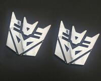 2pcs Transformers Car Sticker Decepticons 3D Chrome Emblem Logo Auto Aufkleber